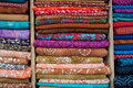 Indian Fabrics for Sale Stock Photos