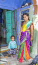 Indian family poses proudly jodpur india october proud mother with her child in jodhpur india jodhpur is the second largest city Stock Photos