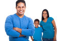 Indian father family handsome with arms crossed in front of Royalty Free Stock Image