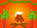 Indian festival pongal illustration Royalty Free Stock Photo