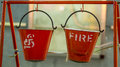 Indian fire buckets Royalty Free Stock Photo