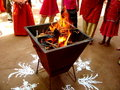 Indian Fire Worship-III Stock Photography
