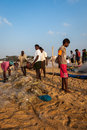 Indian fisherman chenai india february on the marina beach at morning Stock Photos
