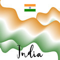 Indian flag and abstract background. Flat  illustration EPS 10 Royalty Free Stock Photo
