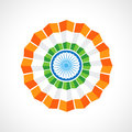 Indian flag badge vector design Royalty Free Stock Photography