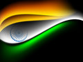 Indian flag color creative wave background Royalty Free Stock Photo