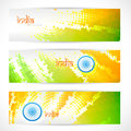 Indian flag headers set Royalty Free Stock Image
