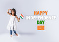 Indian flag and people Royalty Free Stock Photo
