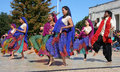 Indian folk dance show Royalty Free Stock Photo
