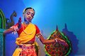 An Indian folk dancer Royalty Free Stock Photo