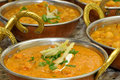 Indian food bowls with Stock Photography