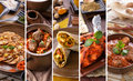 Indian food collage Royalty Free Stock Photo