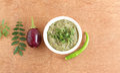 Indian Food Eggplant Chutney Royalty Free Stock Photo
