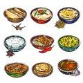 Indian Food Icon Set