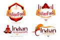 Indian food logo an illustration vector set for an restaurant or quisine Royalty Free Stock Images