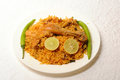 Indian food plate of chicken biriyani Royalty Free Stock Photo