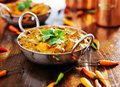 Indian food - saag paneer curry dish Royalty Free Stock Photo