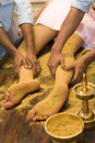 Indian  foot massage Royalty Free Stock Photo