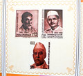 Indian freedom fighters commemorated in stamps. Stock Images