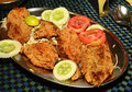 Indian fry fish bombil Stock Images