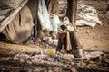Indian garbage collector man