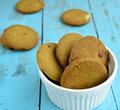 Indian ginger cookies made from flour and Stock Photography