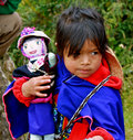 Indian Girl (guambiano tribe), Colombia Stock Image