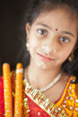 Indian girl in traditional dress Stock Photos