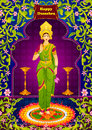 Indian Goddeess Lakshmi giving blessing