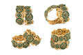 Indian Gold Bangles Set Royalty Free Stock Photo