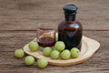 Indian gooseberry liqueur Royalty Free Stock Photo