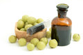 Indian gooseberry liqueur, alternative medicine Royalty Free Stock Photo