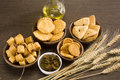 Indian group of mathi food Royalty Free Stock Images