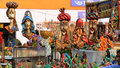 Indian handicraft artworks of on display during the fair in kolkata the biggest handicrafts fair in asia Stock Images