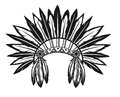 Indian headdress vector illustration of an on a white background Stock Image