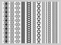 Indian Henna Border decoration elements patterns Royalty Free Stock Photo