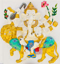 Indian or Hindu God Named Singha Ganapati Stock Images