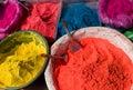 Indian hindu paints Stock Photos