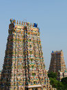 Indian hindu temple india meenakshi sundareswarar in madurai Royalty Free Stock Photography