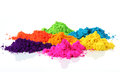 Indian holi festival colours powder of different colors for this can also be used to make rangoli in hindu festivals Stock Photos
