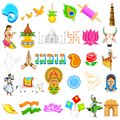 Indian icon illustration of set of showing festivals in india Stock Images