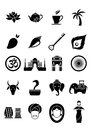 Indian icons set of vector of symbols Stock Photos