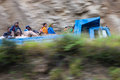 Indian immigrant labourers on their way to work paro bhutan september september in paro bhutan the economy in bhutan is Royalty Free Stock Image