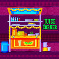 Indian Juice Cart representing colorful India