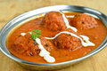 Indian kofta curry vegetable balls with Royalty Free Stock Images