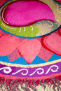 Indian kolam colorful during deepavali Royalty Free Stock Photography