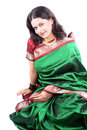 Indian Lady in Sari Stock Photography