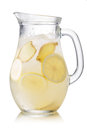 Indian lemonade pitcher of shikanjvi homemade with lemon and ginger spiced with cumin and saffron beverage known as nimbu pani or Stock Photo
