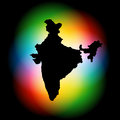 Indian map design vector on colorful background Royalty Free Stock Photos