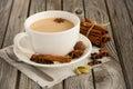 Indian masala chai tea. Spiced tea with milk. Royalty Free Stock Photo